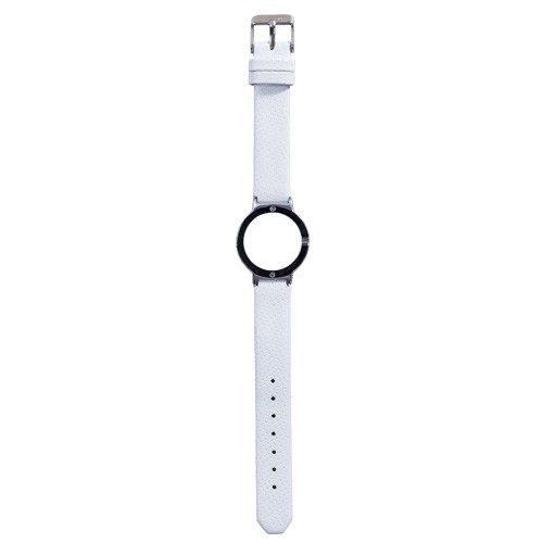Watch Strap (Small Dial) - Leather Spot White