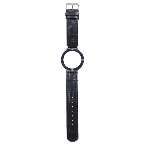 Watch Strap (Large Dial) - Leather Print Black