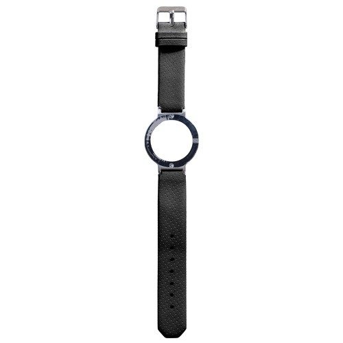 Watch Strap (Large Dial) - Leather Spot Black