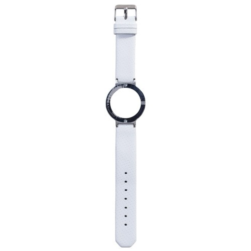 Watch Strap (Large Dial) - Leather Spot White