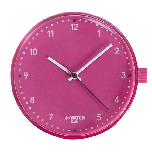 Large Watch Dial - White 40 Mm Magenta