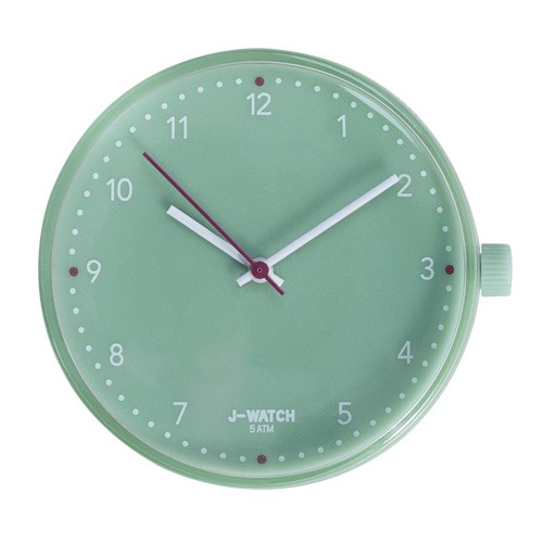 Large Watch Dial - White 40 Mm Sea Water Green