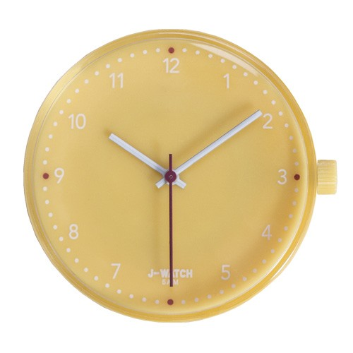 Large Watch Dial - White 40 Mm Yellow