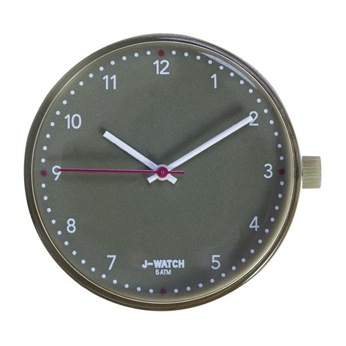 Large Watch Dial - White 40 Mm Olive Green