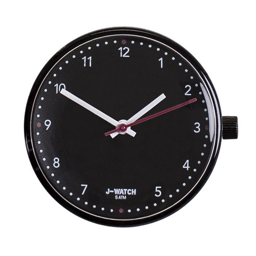 Large Watch Dial - White 40 Mm Numbers Black