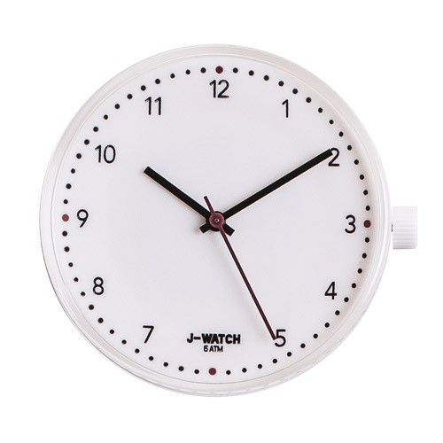Large Watch Dial - White 40 Mm Numbers White