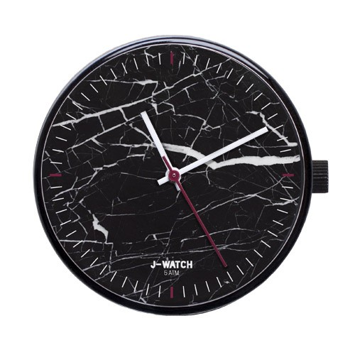 Large Watch Dial - Black Marble