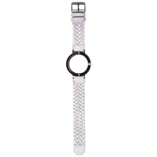 Watch Strap (Large Dial) - White Braided Leather