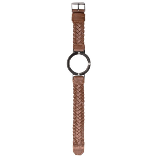 Watch Strap (Large Dial) - Brown Braided Leather