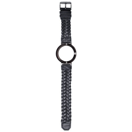 Watch Strap (Large Dial) - Black Braided Leather