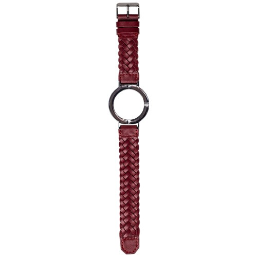 Watch Strap (Large Dial) - Red Braided Leather