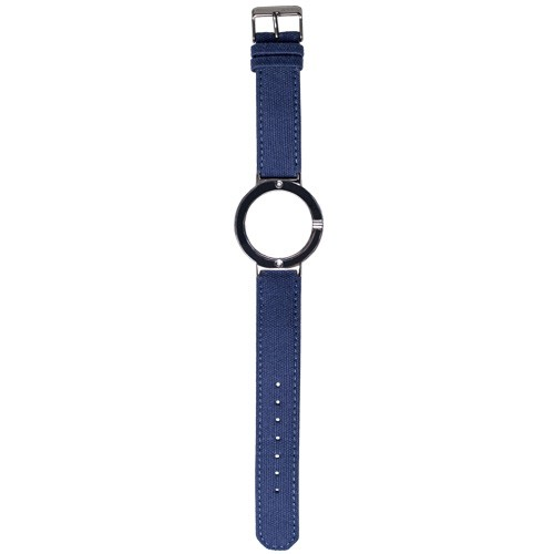 Watch Strap (Large Dial) - Canvas Electric Blue