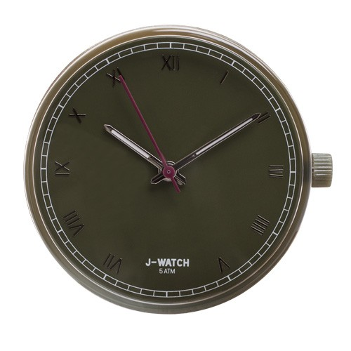 Large Watch Dial - Roman Numerals Olive
