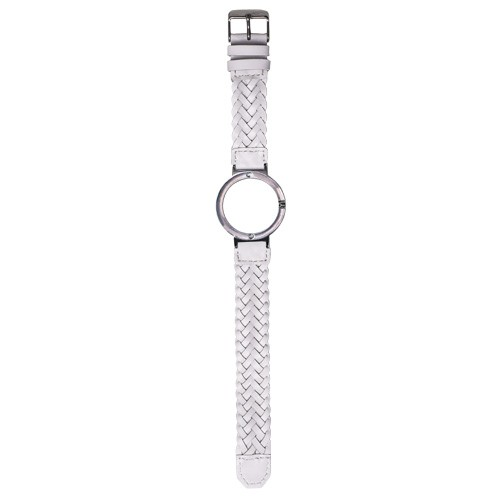 Watch Strap (Small Dial) - White Braided Leather