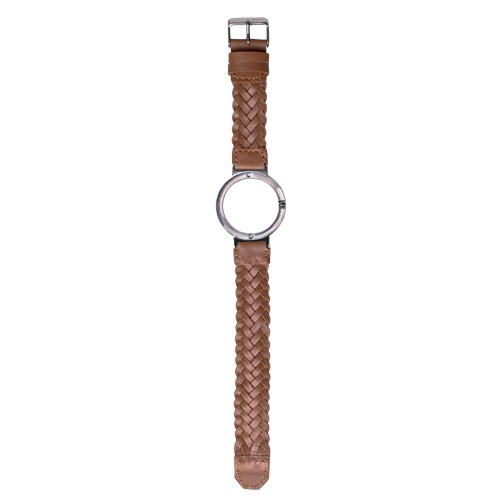 Watch Strap (Small Dial) - Brown Braided Leather