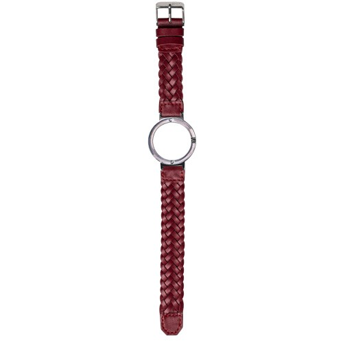 Watch Strap (Small Dial) - Bordeaux Braided Leather
