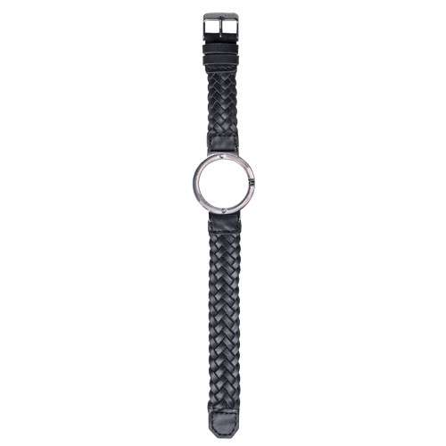 Watch Strap (Small Dial) - Black Braided Leather
