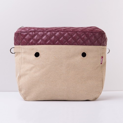 J-TINY Canvas Insert - Quilted Bordeaux