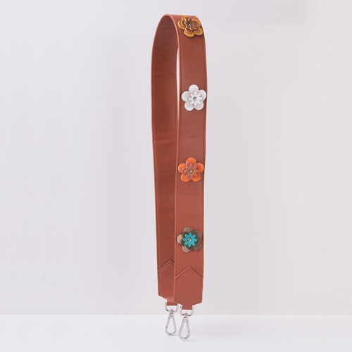 Shoulder Strap - Eco leather With Flowers