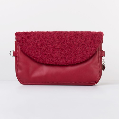 Snap Canvas Bag (J-POSH And J-PACK) -Ruby Wool