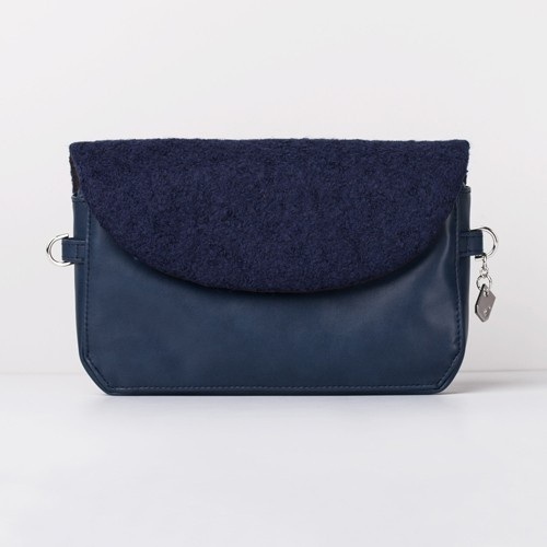 Snap Canvas Bag (J-POSH And J-PACK) - Navy Wool