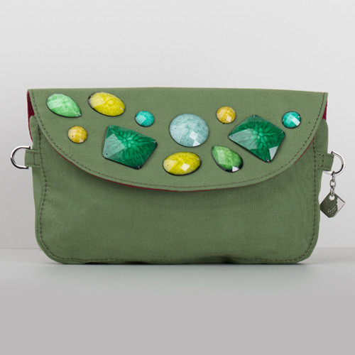 Snap Canvas Bag (J-POSH And J-PACK) - Green Stone