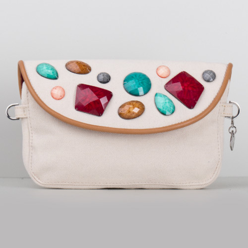 Snap Canvas Bag (J-POSH And J-PACK) - Ivory Stone