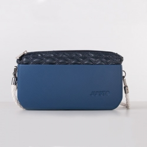 J-POSH SIMPLE CLUTCH – QUILTED BLUE