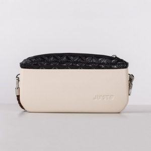 J-POSH SIMPLE CLUTCH – QUILTED BLACK