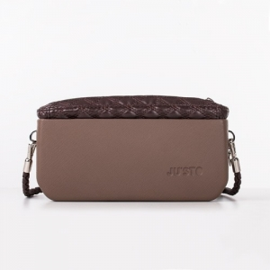 J-POSH SIMPLE CLUTCH – QUILTED BROWN