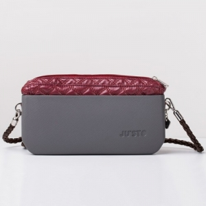 COMPLETE – J-POSH SIMPLE CLUTCH – QUILTED RED